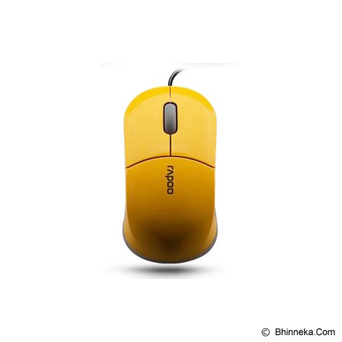 RAPOO Wired Optical Mouse [N6000] - Yellow - Mouse Basic